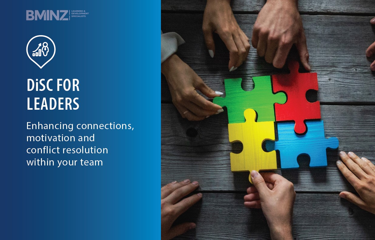 DiSC FOR LEADERS: Enhancing connections, motivation and conflict resolution within your team AT