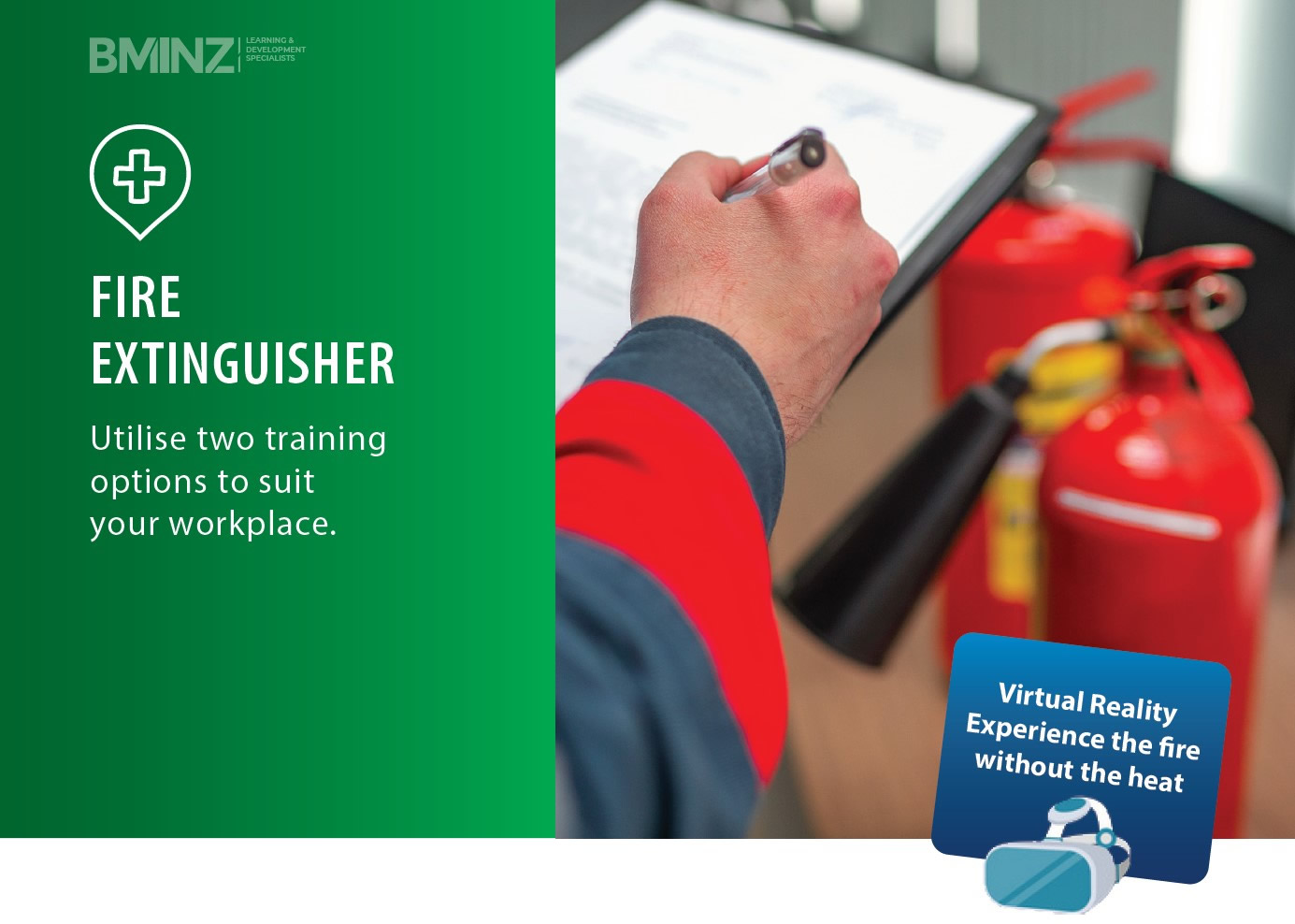 FIRE EXTINGUISHER: Utilise two training options to suit your workplace.