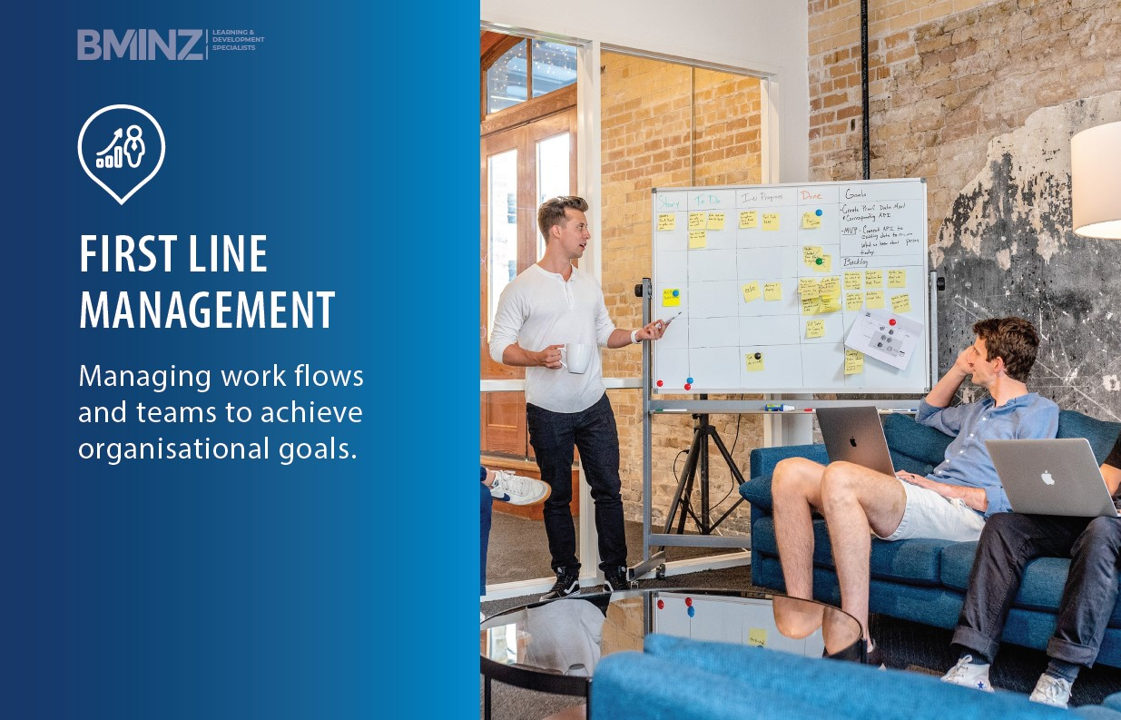 FIRST LINE MANAGEMENT Managing work flows and teams to achieve organisational goals.