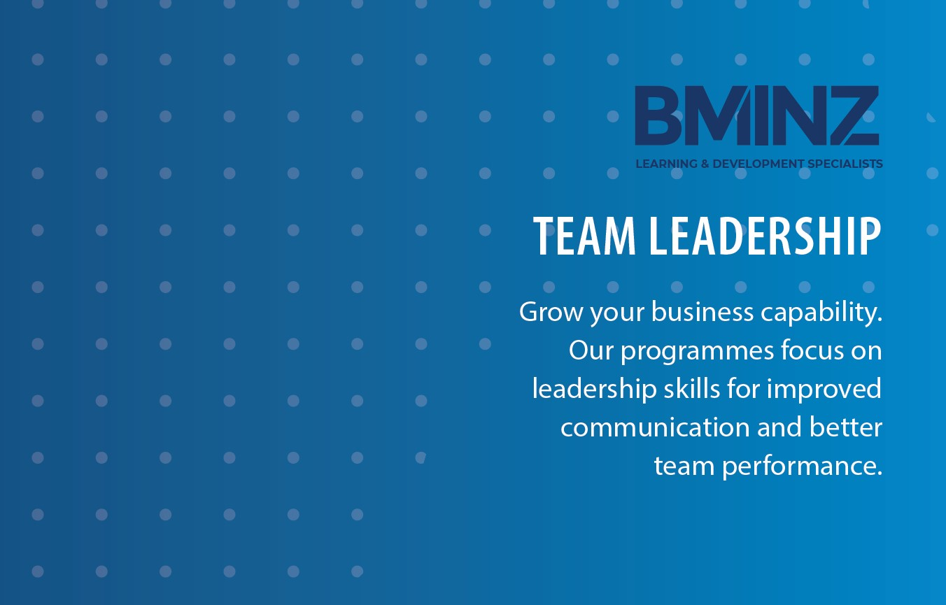TEAM LEADERSHIP: Grow your business capability. Our programmes focus on leadership skills for improved communication and better team performance.